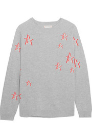 Chinti and Parker 3D Star oversized cashmere sweater