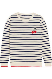 Chinti and Parker Cherry Breton striped cashmere sweater