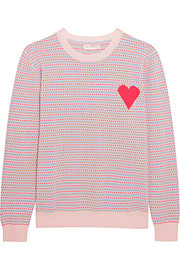 Chinti and Parker Jacquard Heart cashmere sweater