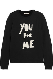 Chinti and Parker You For Me printed merino wool sweater