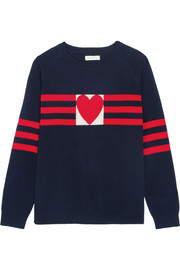 Chinti and Parker Love Heart cashmere sweater