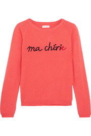 Chinti and Parker Ma Chérie printed cashmere sweater