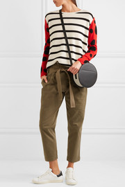 Chinti and Parker Ladybird intarsia cashmere sweater