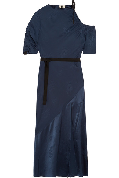 Lambeth Cutout Silk-jacquard Midi Dress - Navy Topshop Good Selling Cheap Price Outlet Clearance Store U90o7slqg