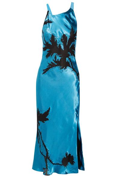 Lexham Devoré-satin Midi Dress - Bright blue Topshop Fast Delivery Sale Online Free Shipping Pre Order Clearance 100% Original Cheap Sale Pre Order 4FpCgV