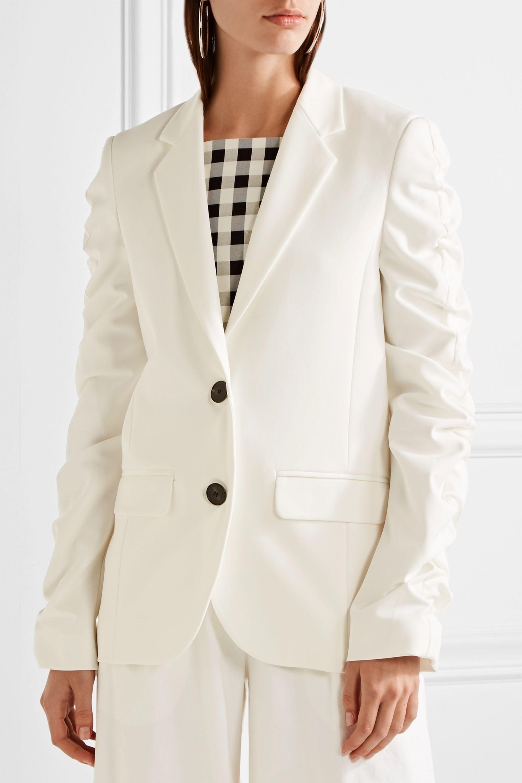 Topshop Unique Culpeper ruched stretch-crepe blazer