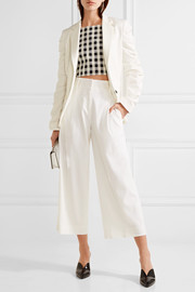 Topshop Unique Culpeper ruched stretch-crepe blazer