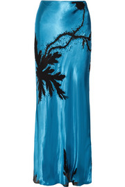 Eltham devoré satin maxi skirt