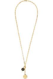 Dream Annex 18-karat gold, diamond and enamel necklace