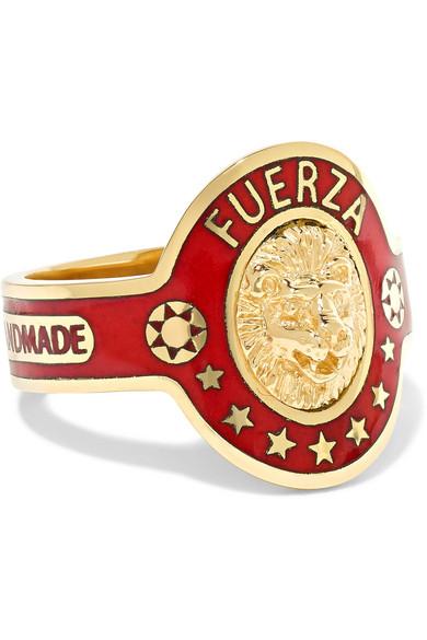 Foundrae - Strength 18-karat Gold Enamel Ring - 5