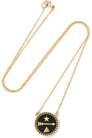 Dream 18-karat gold, diamond and enamel necklace