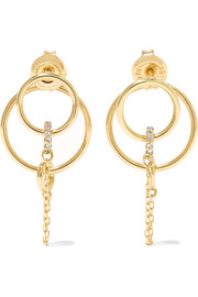 Orbit 18-karat diamond earrings