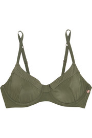 The Body perforated stretch-jersey bra