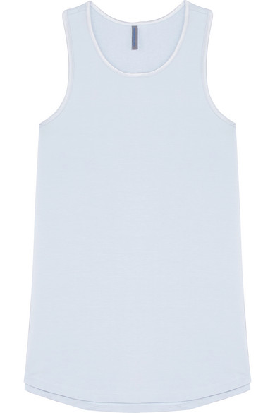 ELLE MACPHERSON BODY Chic French Terry Pajama Top in Sky Blue