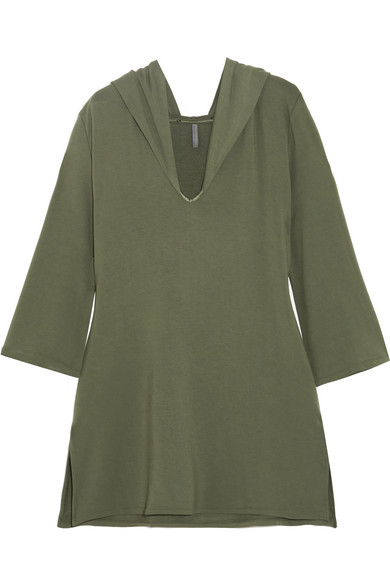 ELLE MACPHERSON BODY CHIC HOODED FRENCH TERRY NIGHTDRESS