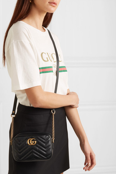 baf00439c5 Gucci | GG Marmont Camera mini quilted leather shoulder bag | NET-A ...
