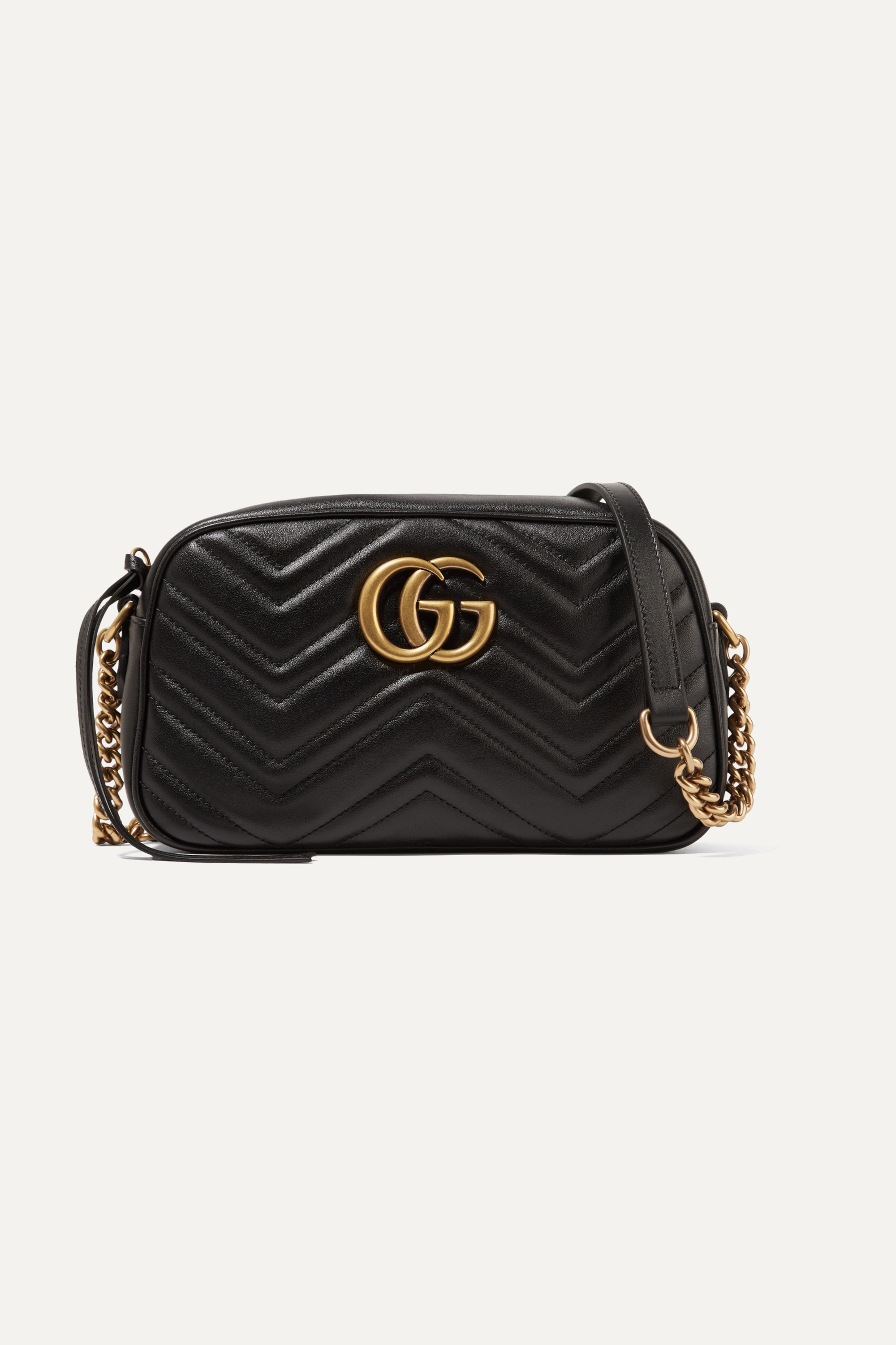 Black Gg Marmont Camera Small Quilted Leather Shoulder Bag Gucci Net A Porter