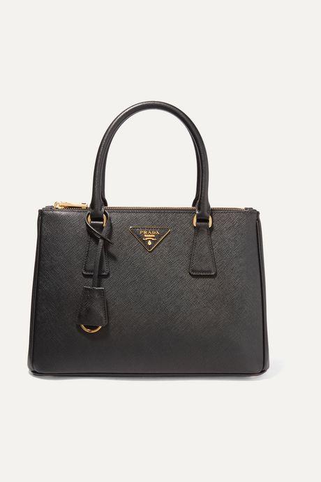 Black Galleria small textured-leather tote | Prada VyA2rm