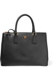 Galleria large textured-leather tote