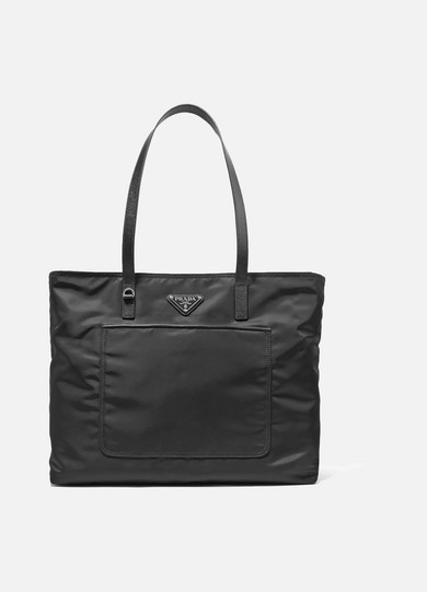 Prada - Vela Leather-trimmed Shell Tote - Black at NET-A-PORTER