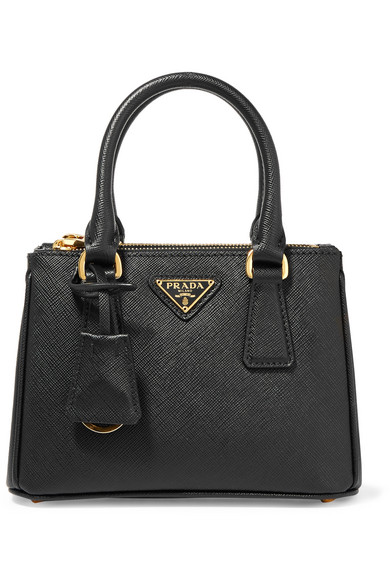 Prada - Galleria Baby Textured-leather Tote - Black at NET-A-PORTER