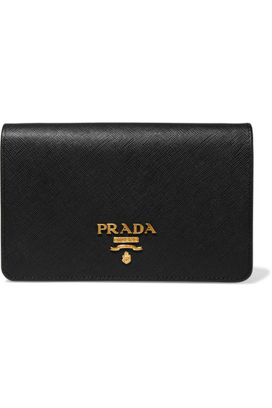 Prada Wallet On A Chain Schultertasche aus strukturiertem Leder
