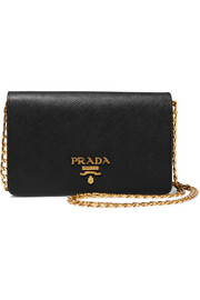 Wallet On A Chain textured-leather shoulder bag