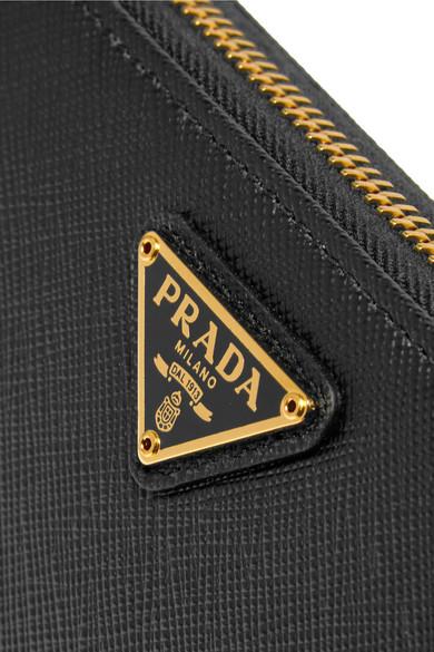 Portemonnaie Prada im Travel europ盲ischen Stil Leder Travel aus strukturiertem Prada 0rqrCtw