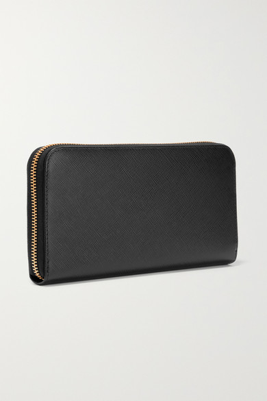 571e35a08ba51 Prada. Textured-leather continental wallet