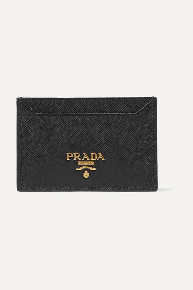 Prada Card Case Made Of Textured Leather
