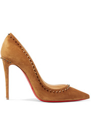 Christian Louboutin Anjalina 100 spiked suede pumps