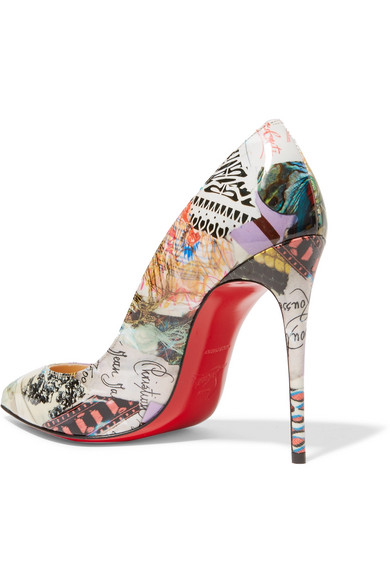 42a7ee5f5394 Christian Louboutin. Pigalle Follies 100 printed patent-leather pumps.  £525. Zoom In