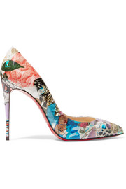 Christian Louboutin Pigalle Follies 100 printed patent-leather pumps
