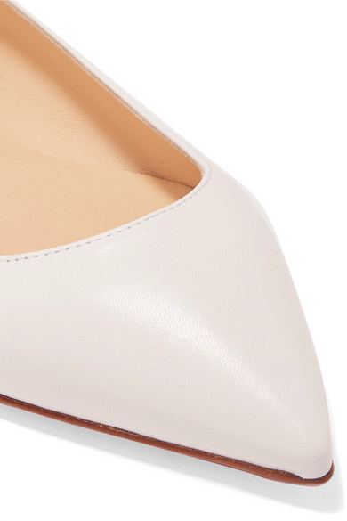 b0d35dc98730 Ballalla leather point-toe flats. £445. Zoom In