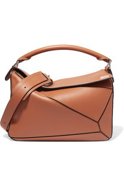 Puzzle leather shoulder bag