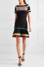 Peter Pilotto Intarsia stretch-knit dress