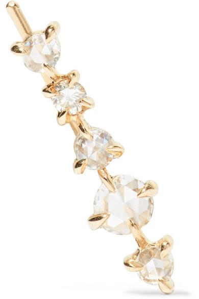 CATBIRD SNOW QUEEN 14-KARAT GOLD DIAMOND EARRING