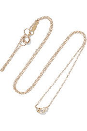 Sleeping Beauty 14-karat gold diamond necklace