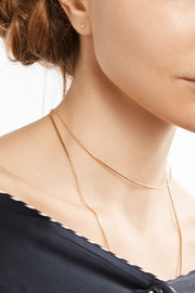 Ballerina Collar 14-karat gold necklace