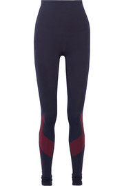 Eight Eight mesh-paneled stretch-jersey leggings