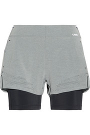 Run Double layered stretch-jersey shorts