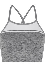 Yoga stretch-knit sports bra