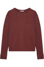 James Perse Distressed cotton-jersey sweatshirt