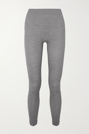 FALKE Ergonomic Sport System Paneled stretch wool-blend leggings