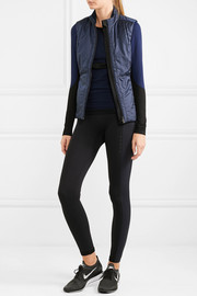 Jersey-trimmed quilted shell gilet