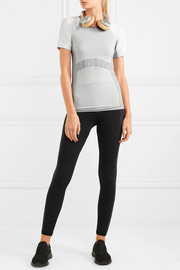 Paneled stretch-knit T-shirt