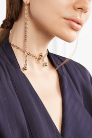 Barbelle gold-plated choker