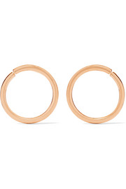 Saskia Diez X Wire gold-plated earrings