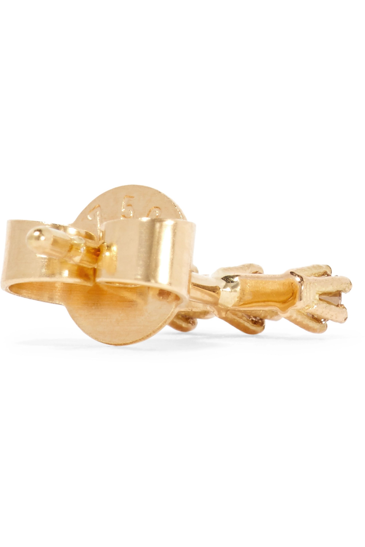Saskia Diez Wire 18-karat gold diamond earring