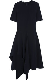 Stella McCartney Francesca asymmetric crepe midi dress